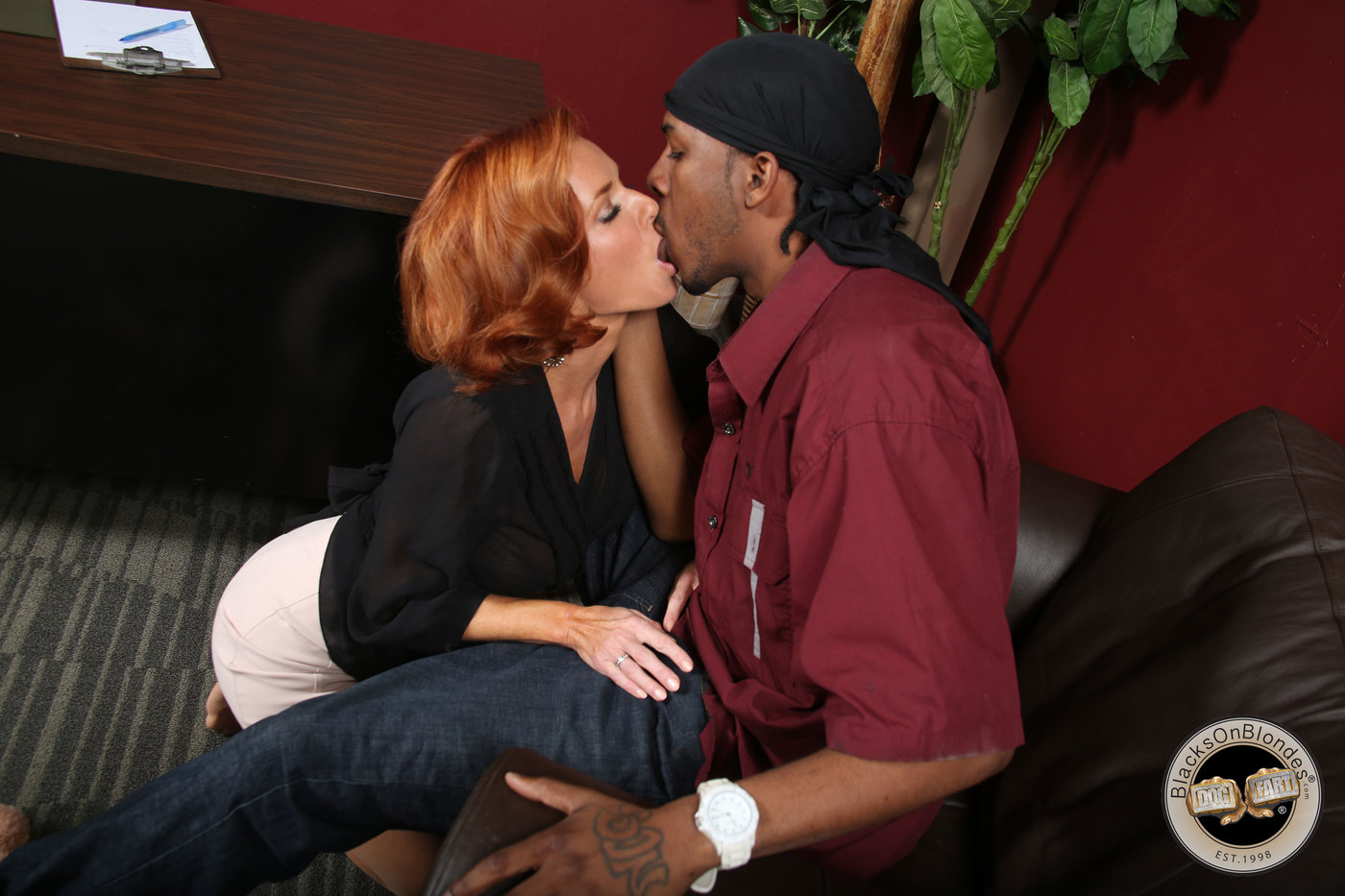 Young Black Couple Homemade
