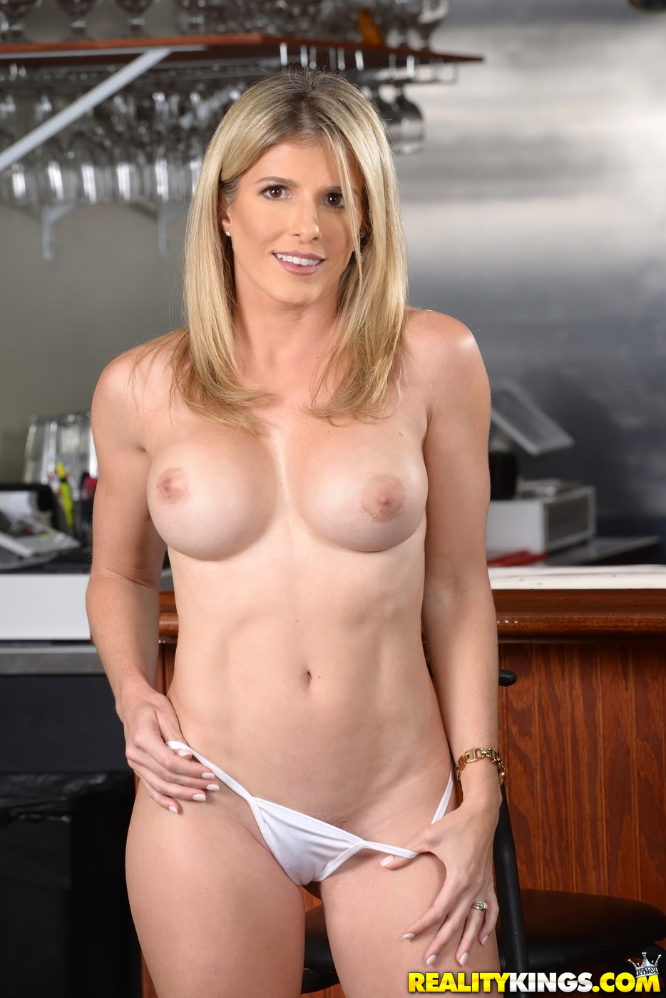 Busty Blonde Milf Takes Off Her White Dress And Helps Her -5252