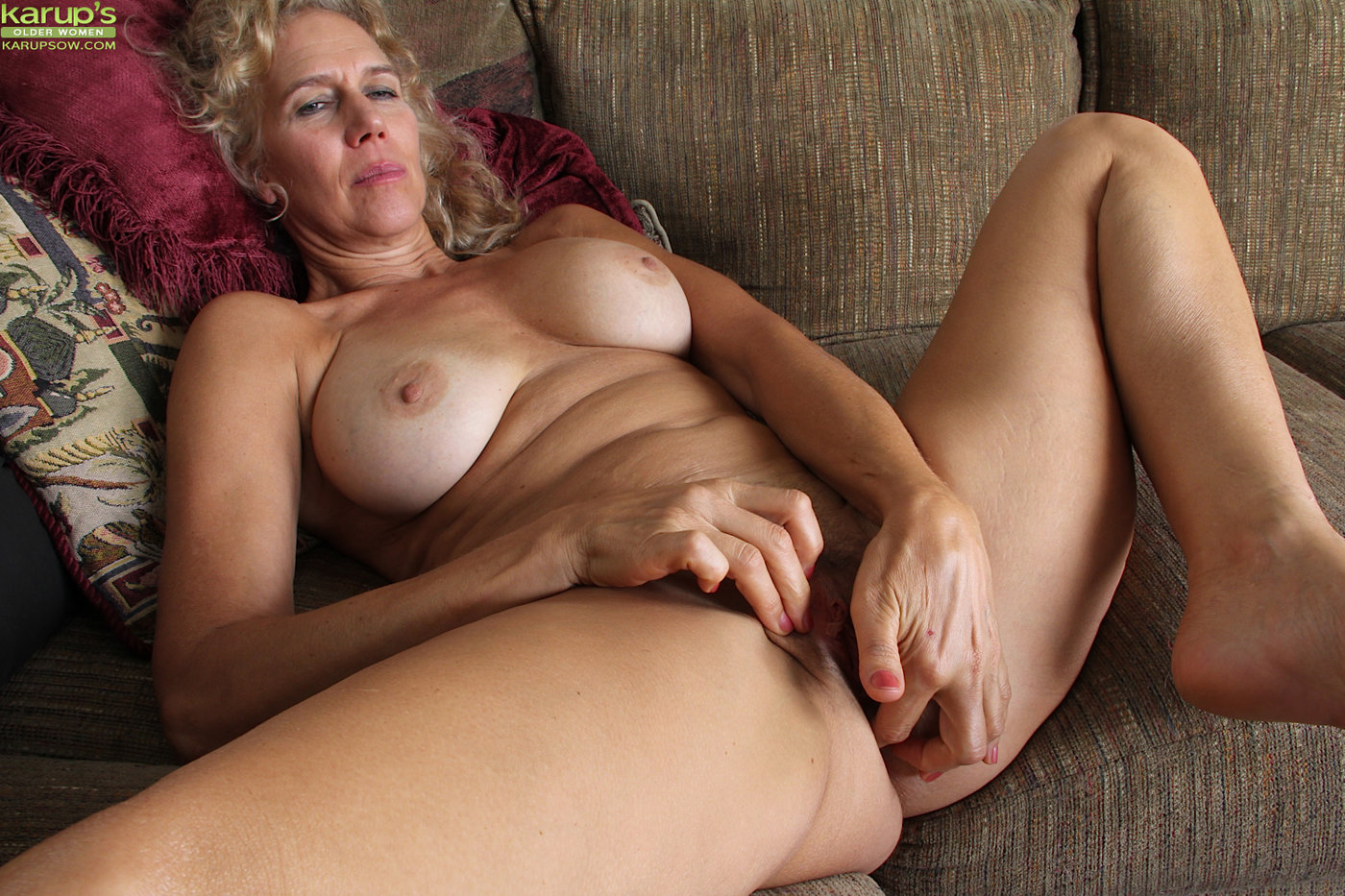 Mom watches daughter riding dick and masturbates her shaved pussy during incest act