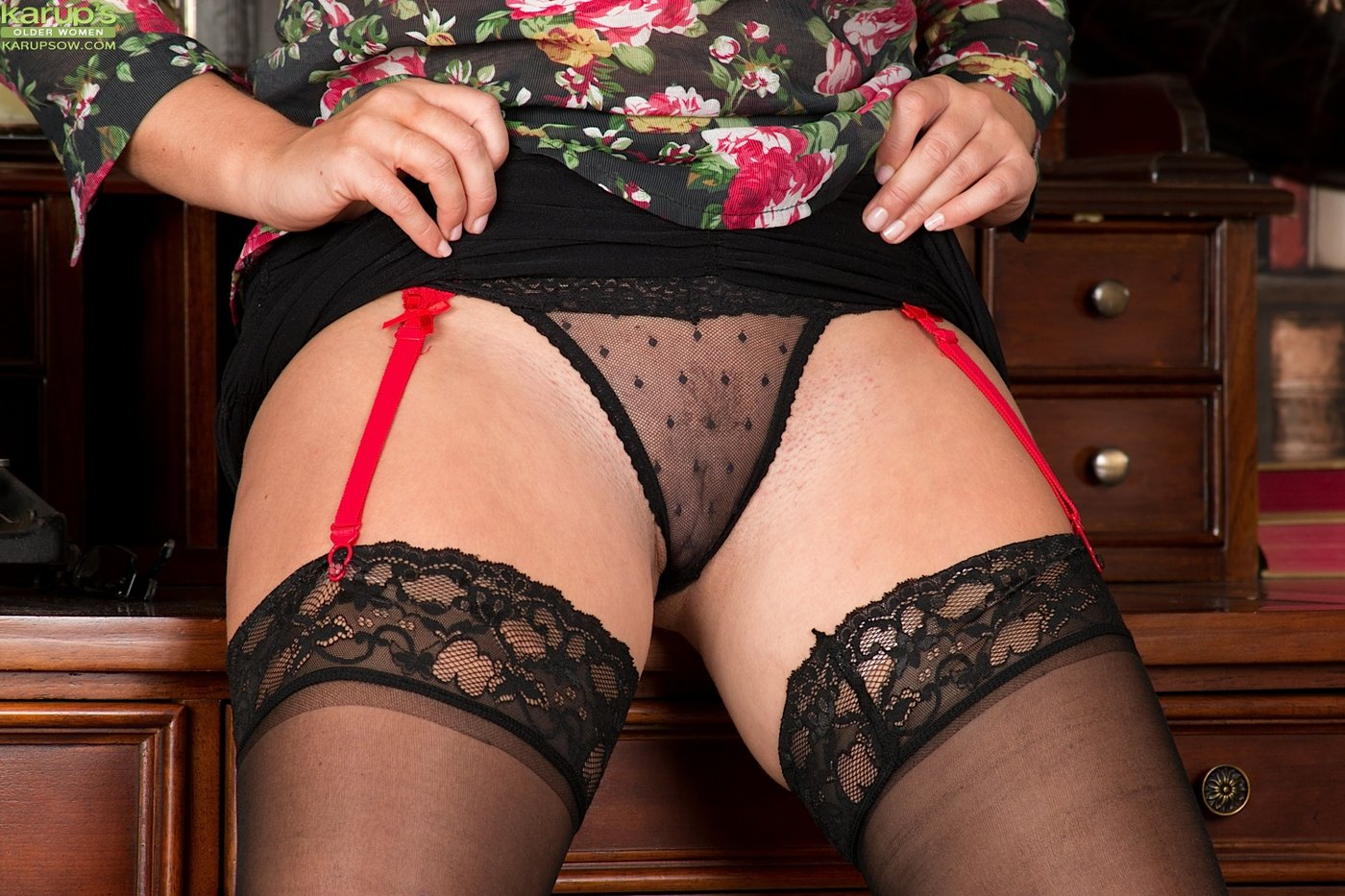 panties black see Milf through