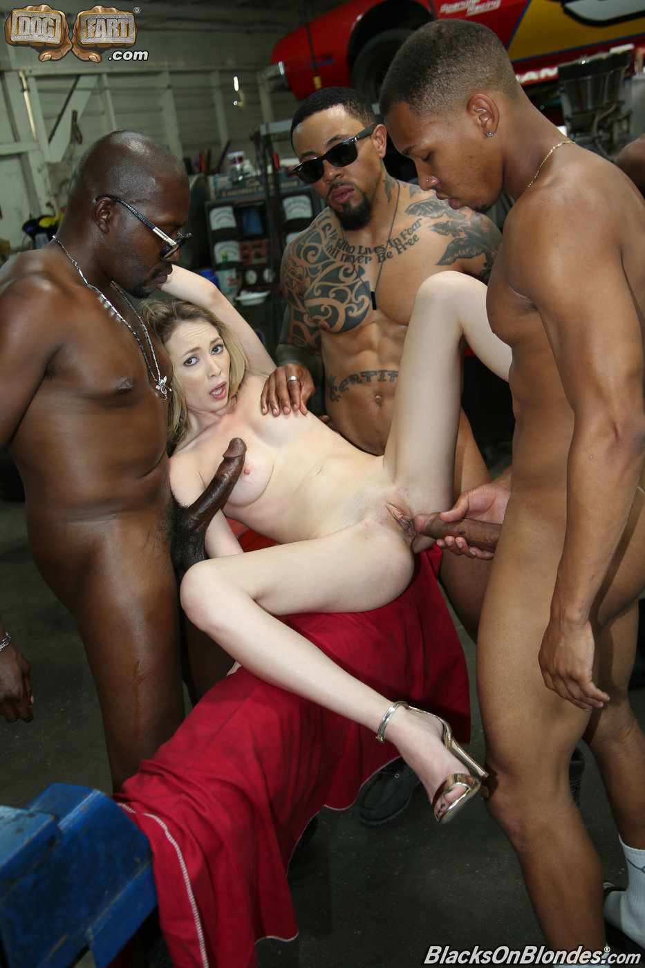 Blonde Gets Gang Banged By Bbc