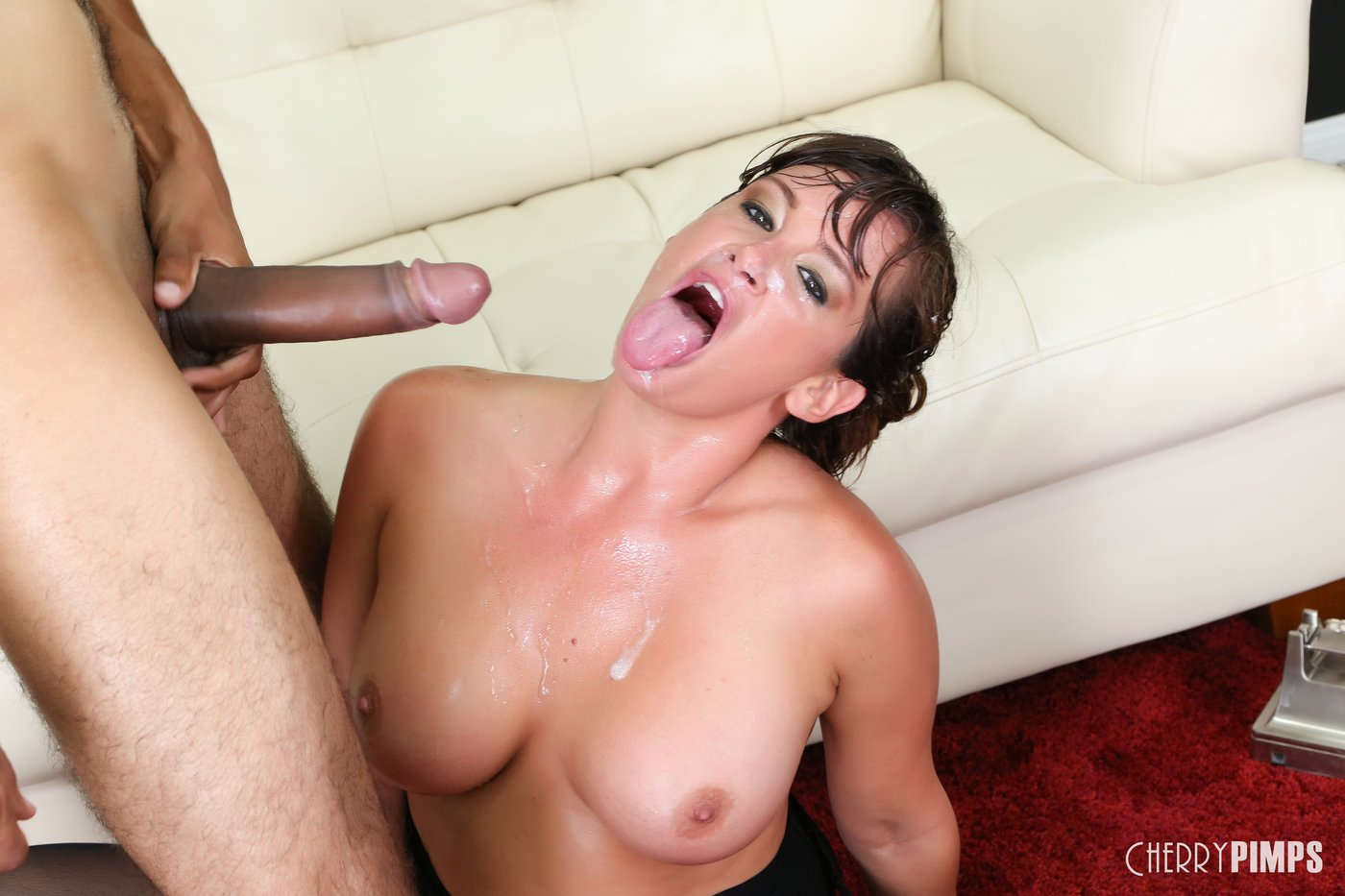 Mature brunette getting