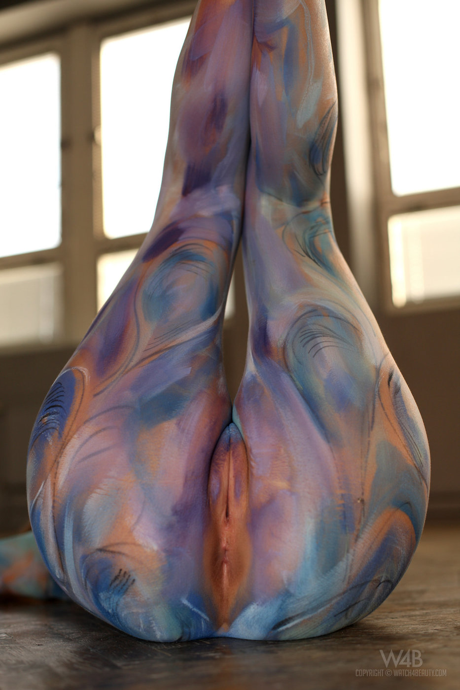 Bodypaint nude vagina — img 14