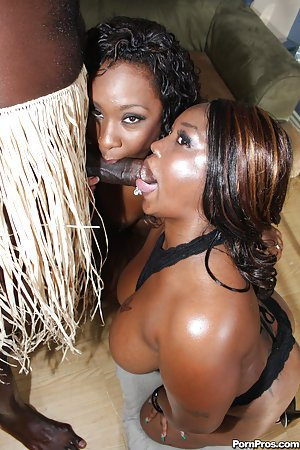 Two Ebony Hotties Getting Fucked By Black Dude Sexy Youtubers 1